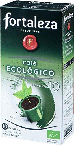Café FORTALEZA - Cápsulas de Café Ecológico Compatibles con Nespresso - Pack 5 x 10 - Total 50 cápsulas.
