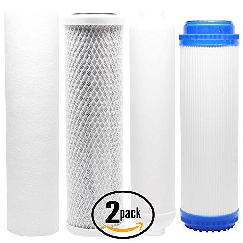 2er Pack Ersatz-Filter Kit für AquaSafe Home II RO System–inkl. Carbon Block Filter, Sediment Filter, GAC Filter & Inline Filter Kartusche–Denali Pure Marke