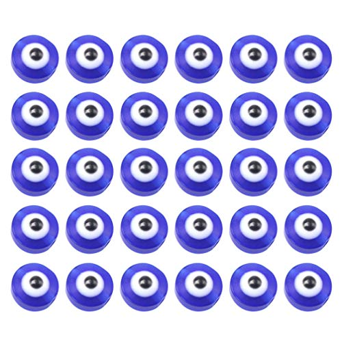 TENDYCOCO 100pcs Plastic Eyeball Beads for Crafts Lucky Evil Eye Spacer Beads Pendants for DIY Bracelet Necklace Earrings Jewelry Making Accessories