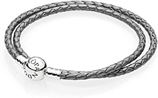Best pandora grey leather bracelet with charms Reviews