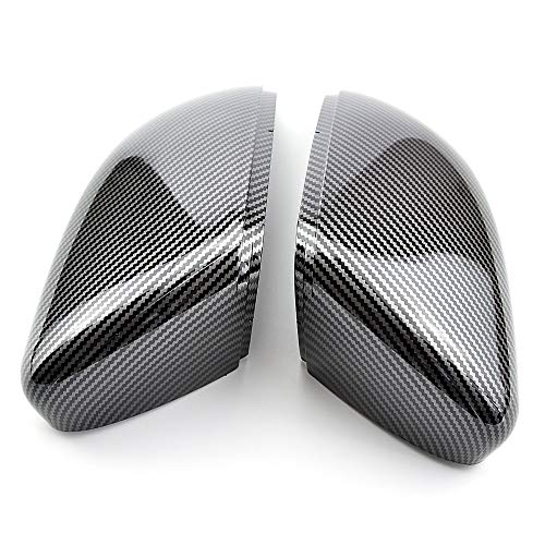 Espejo Para Volkswagen Golf 6 2008-2012 Touran 2011-2014 One Pair Carbon Fiber Car Retroview Espejo Cubierta Cap Cap Accesorios (Color : Carbon Look black)