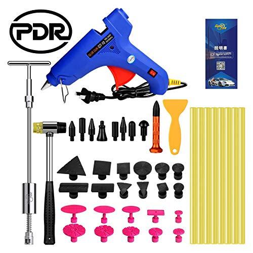 PDR 車修理 車補修 車の凹み直し 車修復工具 デントリペアツール 100Wグルーガン DIY用品 (10セット)