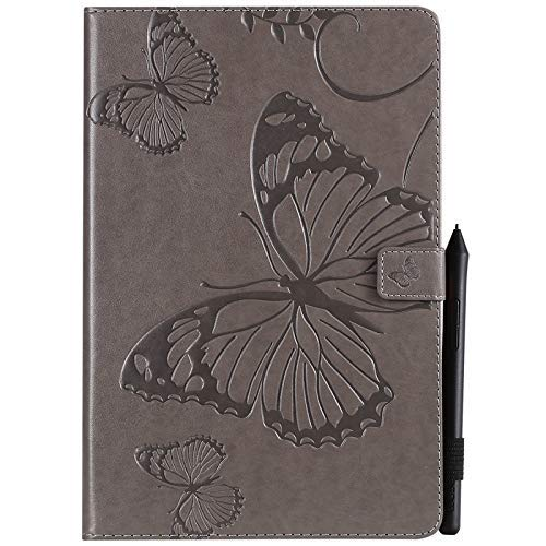 Mobile phone case Samsung Galaxy Cases Retro Butterfly Floral Pattern PU Leather Wallet Anti-scratch Kickstand Protective Cover With Card Slots For Samsung Galaxy Tab S4 10.5 Inch 2018 Model SM-T830/T