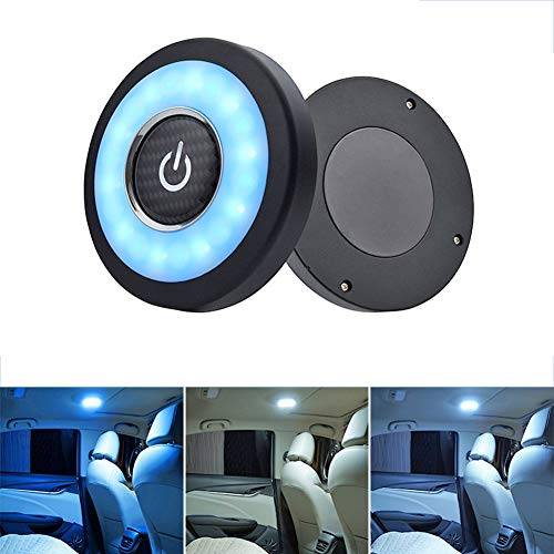 Auto-Deckenleuchte, Dachkuppellicht, magnetisch, Kuppelleuchte, universal, wiederaufladbar, kabellos, LED, Auto, Schlafzimmer, Wohnzimmer, Kleiderschrank, Toilette und andere Orte. Blau/Weiß