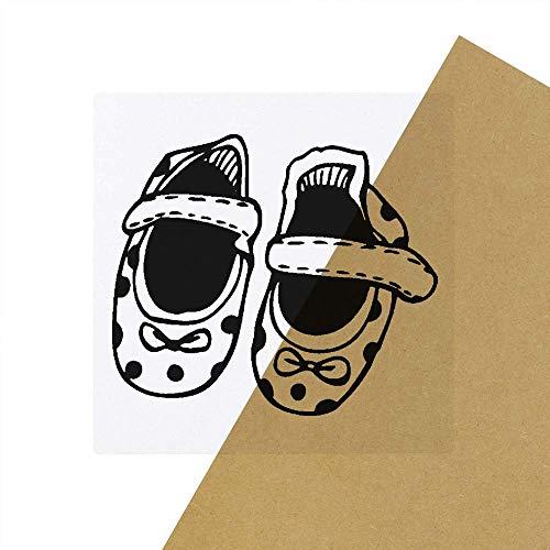 6 x 'Baby Schuhe' Transparente Aufkleber / Stickers (SK00022575)