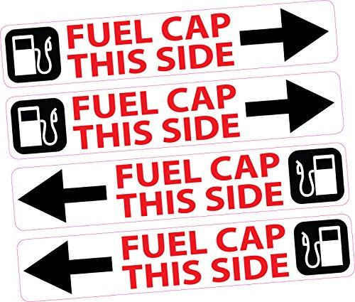 4x Fuel Filler Cap Side Sticker Dashboard Herinnering Diesel Loodvrije Huur Auto Van Truck Bus