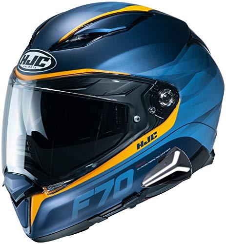 HJC F70 Full Face Motorcycle Helmet with Smart HJC 20B Bluetooth Headset Feron MC2SF Xlarge