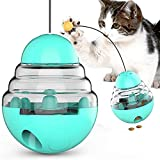 ZWOOS Juguetes para Gatos Interactivos, Pelota Dispensadora de Comida para Gatos/Bola para Golosinas de Gato/Dispensador de Comida con Vaso Giratorio para Ejercicio Animal Doméstico Gatos