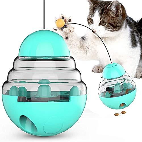 ZWOOS Interaktives Katzenspielzeug Ball, Snackball Katze Katzenspielwaren Haustier Katze Lernspielzeug, Selbstdrehender 360-Grad-Ball zur Stimulierung des Jagdtriebs Lustiges Jäger-Spielzeug