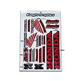 KUNGFU GRAPHICS カンフー グラフィックス ステッカー レーシングスポンサーロゴ マイクロデカールシート(ホワイト レッド)
