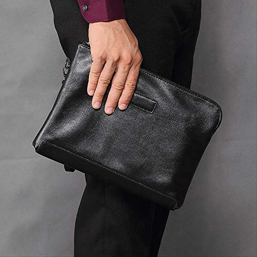 nobrand FJSD Herren Handtaschen Mode Clutches Herren Softleder Clutch Business Bag Handtaschen Taschen Taschen Taschen Briefumschlag