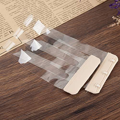 4 x rutschfeste elastische Schnalle, weiche BH-Verlängerungen mit 3 Haken. Transparente Haut