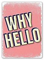 Why Hello 金属板ブリキ看板警告サイン注意サイン表示パネル情報サイン金属安全サイン