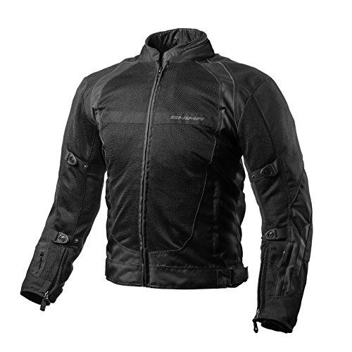 Shima X-MESH BLACK Herren Motorradjacken Rückenprotektor Mesh Sommer Kurz (S-XXL, Schwarz), XL