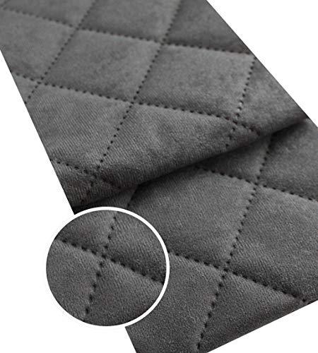 Microfaser Alkan Imitat Gesteppt Polsterstoff Möbelstoff Meterware Polsterstoff Wildleder 50x150cm (Dunkelgrau 36)
