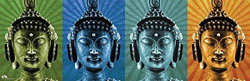 Close Up Póster Mcfly - Buddha con Audioculares/Headphones [Póster Horizontal] (91,5cm x 30cm) + 1 póster Sorpresa de Regalo