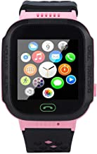 Kids Smart Watch - Hamkaw Waterproof Kids GPS Tracker Watch Phone with Remote Monitor Camera SOS Voice Chat Anti-Lost Alarm Functions, Children Pedometer Smart Wrist Watch for Boys and Girls