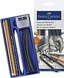 Faber-Castell 114002 - Kohle Sketch Set Goldfaber, 7 teilig -
