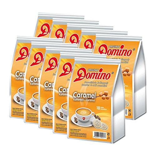 10 x DOMINO Kaffeepads Karamell 18 Pads