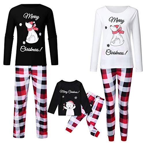 LUNULE Conjunto de Pijamas Familiares de Navidad, Trajes Navideños para Mujeres...