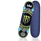 DDH Standard Skateboards for Beginners, Tricks Skateboards for Kids and Beginners-Energy Claw