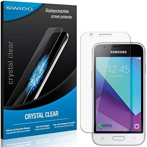 SWIDO Schutzfolie für Samsung Galaxy J1 Mini Prime [2 Stück] Kristall-Klar, Hoher Härtegrad, Schutz vor Öl, Staub und Kratzer/Glasfolie, Displayschutz, Displayschutzfolie, Panzerglas-Folie