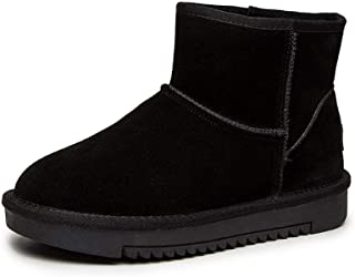 BalaMasa Womens ABS13894 Soft-Toe Travel Closed-Toe Black Leather Boots - 4.5 UK (Lable:38)
