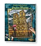 Schipper- MNZ 609130817 Notre Dame-Cuadro para Colorear por números (40 x 50 cm, Incluye Pincel y Pinturas acrílicas), Color 1, 40 x 50 (Noris Spiele