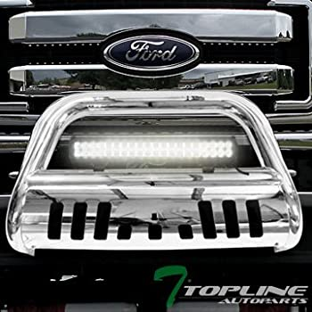 BETTER AUTOMOTIVE Compatible with 2000-2004 FORD EXCURSION//1999-2004 FORD F250//F350//F450//F550HD SUPER DUTY 3 BULL BAR STAINLESS STEEL Bumper Brush Guard Certified Refurbished
