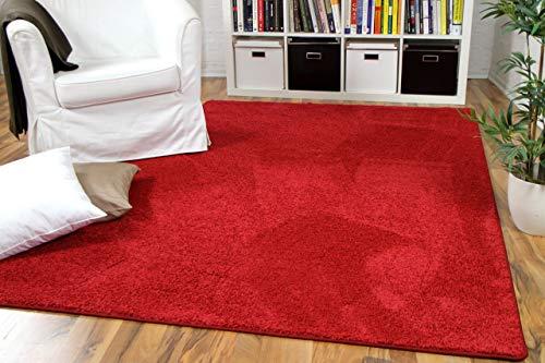 Snapstyle Mona - Alfombra Pelo Corto - Velour - Rojo - 17 tamaños