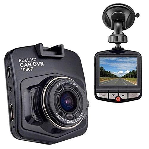 WJY 2.4' Cámara de Coche Grabadora de Conducción Dash CAM Full HD 1080P Driving Recorder DVR Grabadora de Conducción (Color : Black)