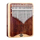 QiaoDongDian Kalimba 21Key Professional Double-Layer Solid Wood Board Side Hole Thumb Piano,Calimba Musical Instruments,Professional Music Birthday Gifts