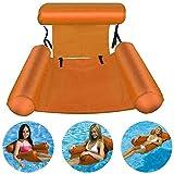 RHESHINE Hamaca inflable para piscina, silla de agua, hamaca 4 en 1, colchón de aire ultracómodo, colchón de aire flotante, colchoneta flotante, silla de piscina, silla de salón portátil