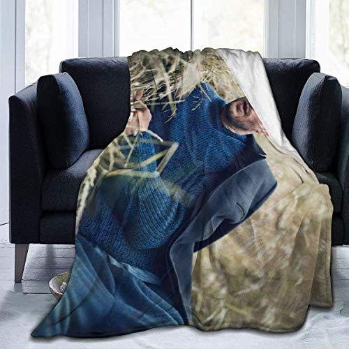 Jamie Dornan Ultraweiche Micro Fleece Decke Weiche und warme digital Bedruckte Decke Flanell Decke für Kinder Erwachsene (80 'X 60')