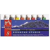 Caran D'ache Gouache スタジオチューブ 8色 (2001.408) [並行輸入品]
