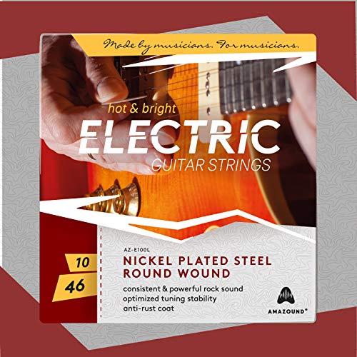 AMAZOUND E-Gitarren-Saiten Nickel-Stahl-Saiten E-Gitarren-Saiten (10-46), 1 Set