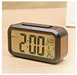SAPPHIRE INDIA Digital Alarm Clock - LED Display Table Clocks for Students - Best for Kids Bedroom with Snooze Button, Temperature (Black Digital)