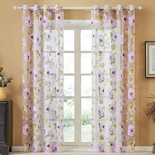 cortinas salon estampadas semiopacas