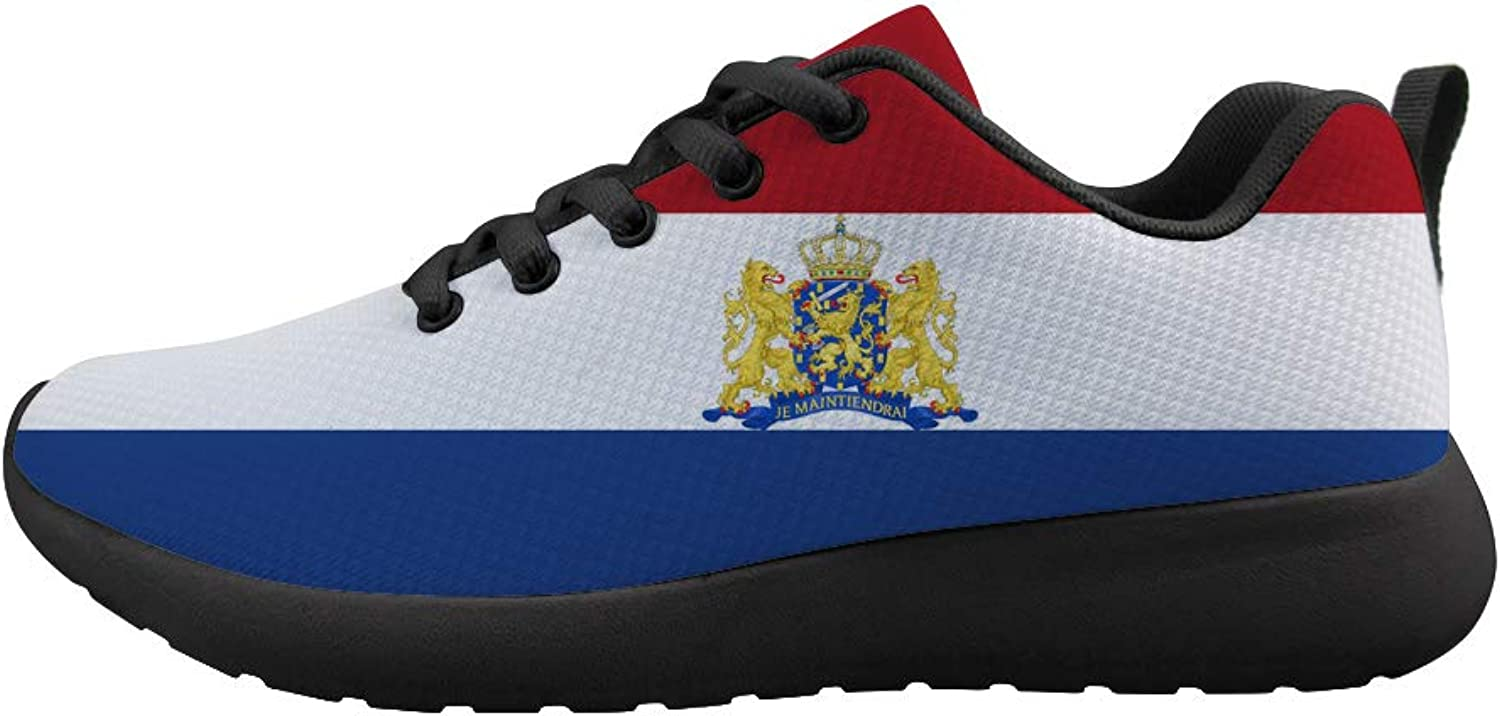 Owaheson Cushioning Sneaker Trail Running shoes Mens Womens Dutch Flag Netherlands National Emblem