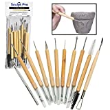 Sculpt Pro Pottery Tool Kit - 11-Piece 21-Tool Beginner's Clay...
