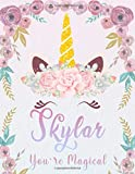 Skylar: Personalized Unicorn Sketchbook For Girls With Pink Name. Unicorn Sketch Book for Princesses. Perfect Magical Unicorn Gifts for Her as Drawing ... & Learn to Draw. (Skylar Unicorn Sketchbook)