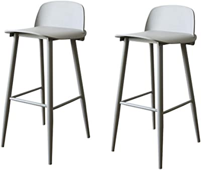 Amazon Com Dhp P Luxor Metal Counter Stool With Wood Seat