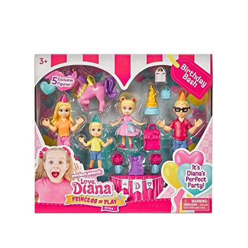 Far Out Toys Love Diana Kids Diana Show Princess of Play Birthday Bash 5Figurine Set More Accessories Included for Birthday Party Fun Celebrate with The Whole Family Recommended for Ages 3