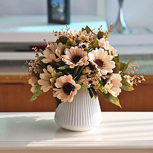 ZJJJH Künstliche dekorative Blumen Weiße keramische Vasenorange der Sonnenblumenart der künstlichen Blume XCZHJ-Blumenprodukte umfassen:Kunstblumen & -Pflanzen,Blumen,Pflanzen,Blumendeko.