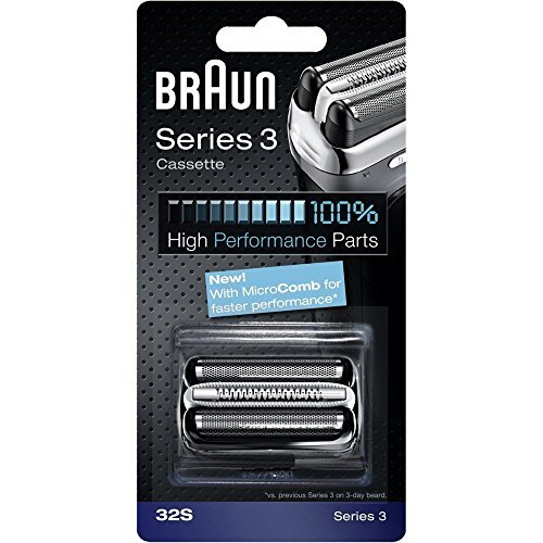 BRAUN 32S Series 3 Shaver Foil and Cutter Head Replacement Cassette by Braun