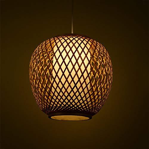 Lámpara de araña de bambú para jardín, creativa lámpara de bambú chino para restaurante
