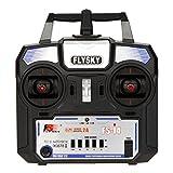 GoolRC FLYSKY FS-i4 AFHDS 2 a Emetteur 2,4 GHz 4 Canaux Radio Système pour Hélicoptère RC Planeur avec Récepteur FS-A6