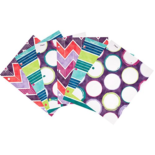 Mead Shape It Up 2-Pocket Folders, Assorted Designs, 6 Pack (73073)