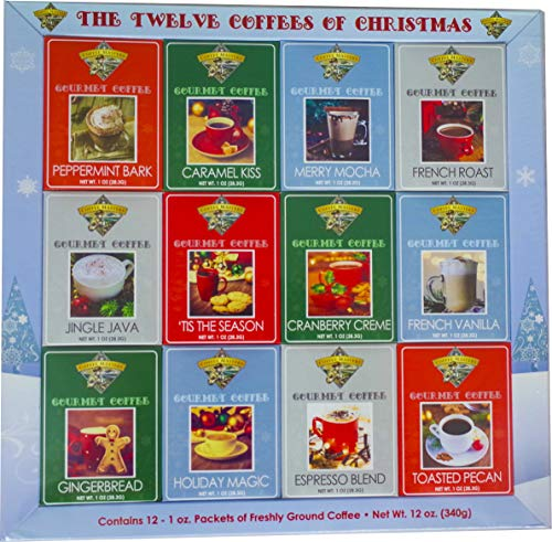 Christmas Coffee Gift Gourmet Gift Box Set or Sampler - Best Xmas Holiday Present For Friends, Entire Family, Corporate, Client, Coworkers