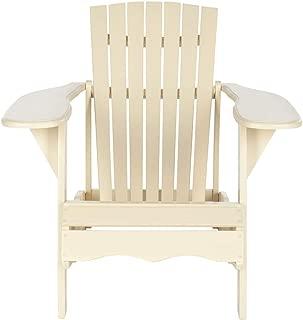 Safavieh Outdoor Living Collection Mopani Adirondack Arm Chair, Off-White